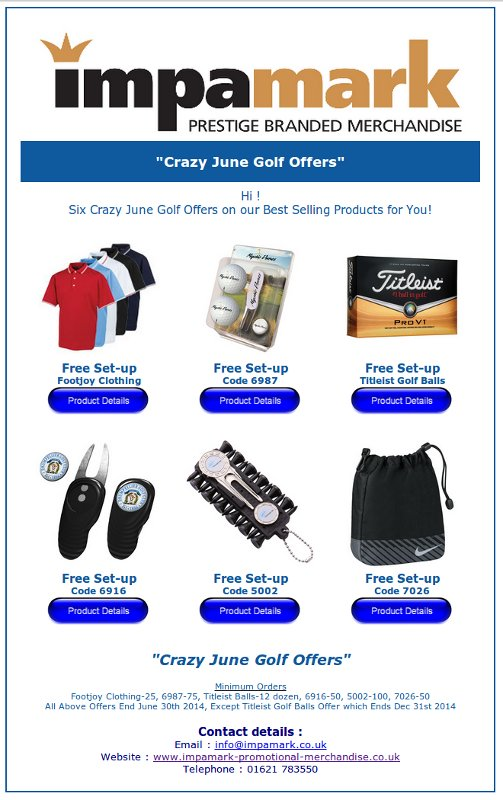 Golf offer for June