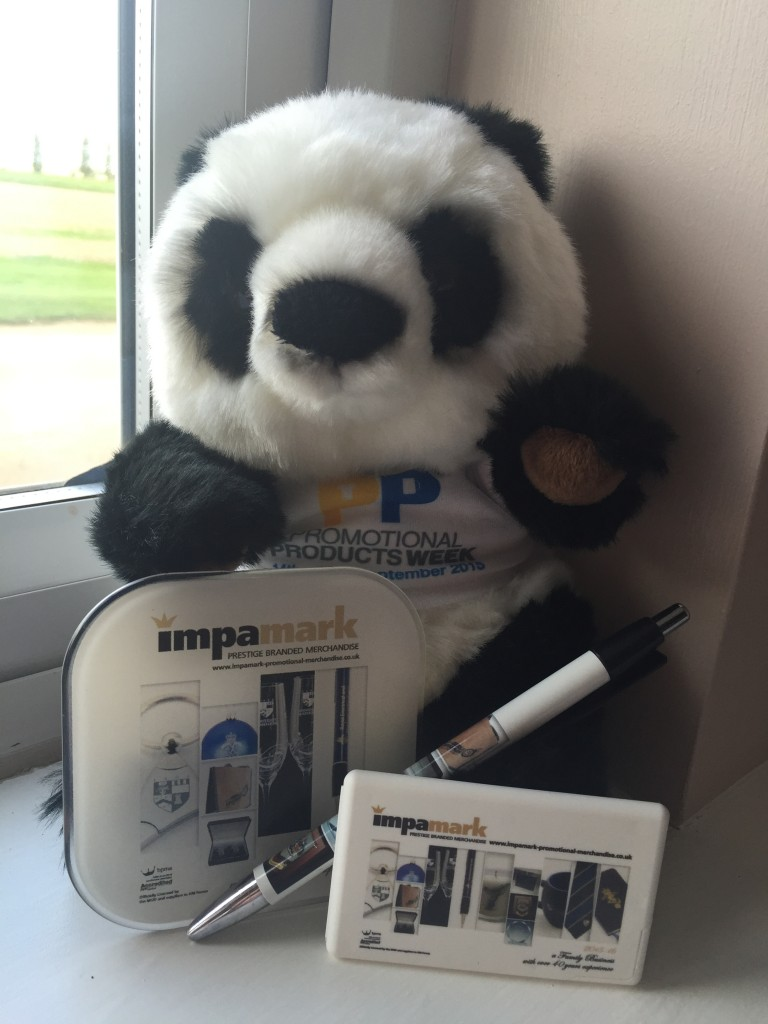 Panda with our giveaways