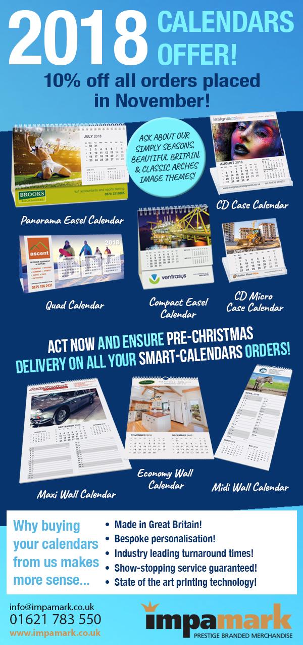 2018 Calendars Offer!